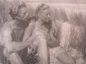 Arie Zuidersma en Sitha in 1947