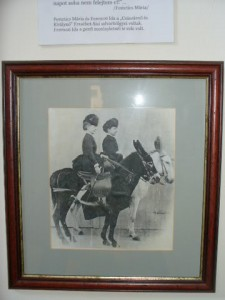 Elisabeth en hofdame Marie Festetics te paard