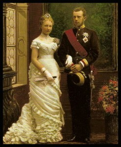 Kroonpinrs Rudolf en verloofde prinses Stephanie