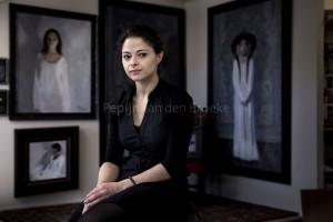 Haren 20141124. Svetlana Tartakovska, kunstenares. Figuratieve schilderkunst. Foto: pepijn van den broeke.
