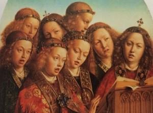 Detail uit Het Lam Gods van Jan en Hubert van Eyck. Foto: Liesbeth Honders.