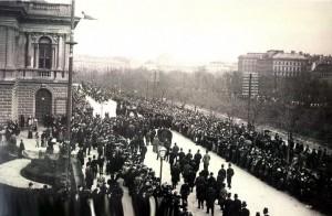 Begrafenis van Hans Makart in 1884